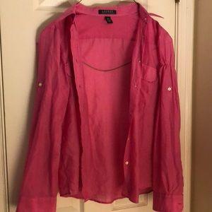 Pink Ralph Lauren blouse!